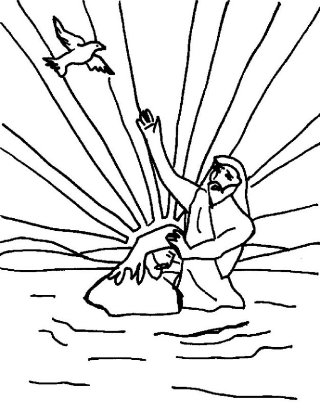baptizes jesus coloring page 28 images jesus baptism by the